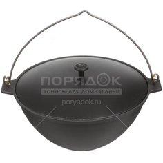 Казан чугунный Камская посуда ПЛЧ-3-40-26-65-7/к41д с крышкой, 4 л