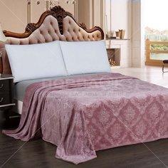 Плед Cleo полутораспальный (150х200 см) велсофт Парма 150/151-OP, розовый