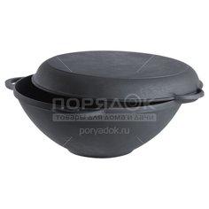 Казан чугунный Forester CI-01 с крышкой-сковородой, 9 л