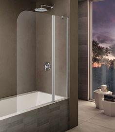 Шторка для ванны 120 см прозрачное стекло Provex Look 2003LK28GLR