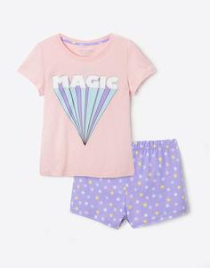 Пижама с рисунками для девочки Gloria Jeans