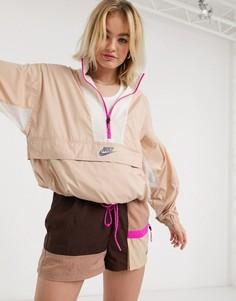 Бежевая складываемая куртка Nike-Бежевый