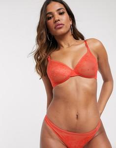 Оранжевый кружевной бюсгальтер Gossard