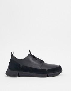 Черные кроссовки Clarks-Черный