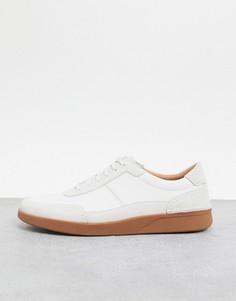 Белые кроссовки Clarks-Белый