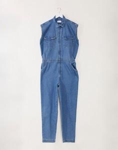 Синий джинсовый комбинезон без рукавов ASOS DESIGN