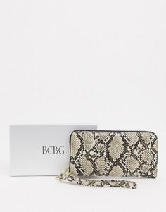 Кошелек со змеиным рисунком в подарочной упаковке BCBGeneration-Коричневый