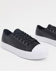 Черные кожаные кеды со шнуровкойLacoste-Черный