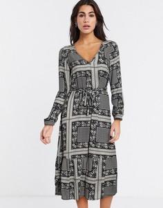 Платье миди с платочным принтом Vila-Мульти