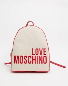 Рюкзак с большим логотипом Love Moschino-Бежевый