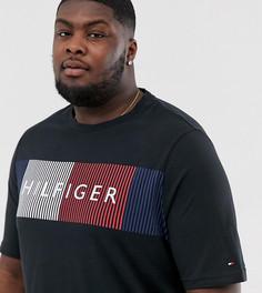 Черная футболка с большим логотипом-флагом Tommy Hilfiger Big & Tall-Черный