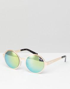 Круглые солнцезащитные очки Miss KG-Желтый