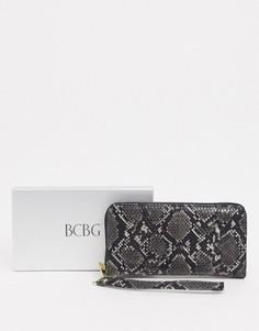 Кошелек со змеиным рисунком в подарочной упаковке BCBGeneration-Черный