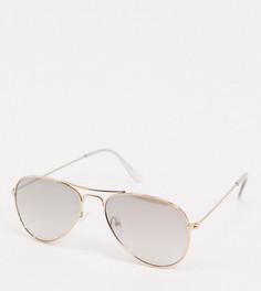 Золотистые солнцезащитные очки-авиаторы с зеркальными стеклами Accessorize Alice-Золотой