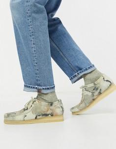 Камуфляжные туфли Clarks Originals-Мульти