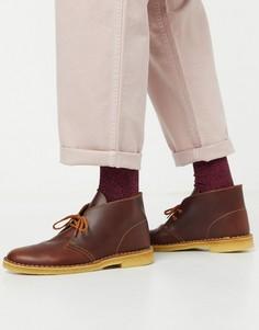 Светло-коричневые кожаные дезерты Clarks Originals-Светло-коричневый
