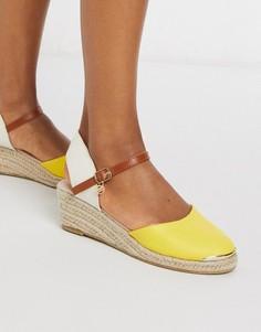 Желтые эспадрильи на каблуке Miss KG-Желтый