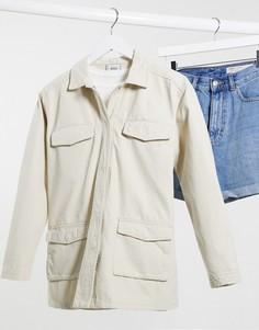 Светло-бежевая рубашка-куртка Pimkie-Розовый