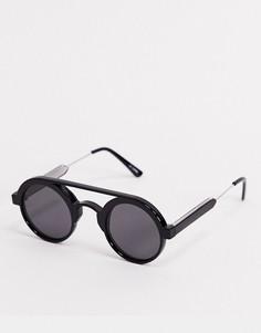 Черные круглые солнцезащитные очки Spitfire-Черный