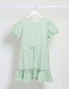 Зеленое платье мини с поясом Vila-Зеленый