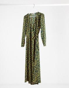 Зеленое платьемидив горошекMinimum-Зеленый