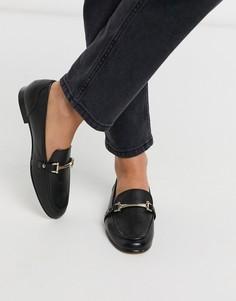 Черные кожаные лоферы ALDO-Черный