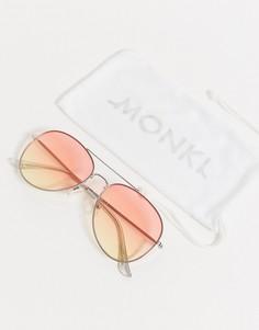 Солнцезащитные очки-авиаторы Monki-Серебряный