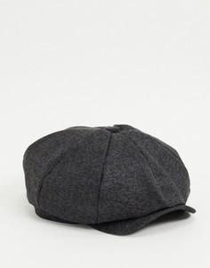 Темно-серая кепка газетчика Boardmans-Серый