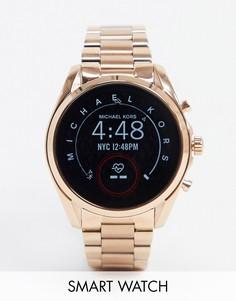 Смарт-часы цвета розового золота Michael Kors MKT5086 Bradshaw-Золотой