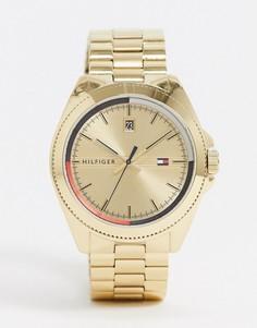 Золотистые наручные часы Tommy Hilfiger 1791686-Золотистый