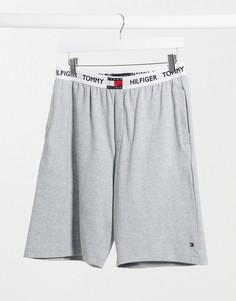 Серые шорты для дома с контрастным поясом Tommy Hilfiger 85-Серый