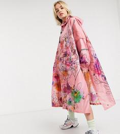 Непромокаемый дождевик с цветочным принтом 365 Dry-Розовый
