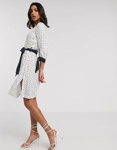 Платье с завязками Closet-Белый