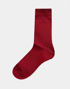 Носки с блестками Monki-Красный