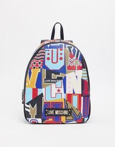 Рюкзак с принтом Love Moschino-Черный