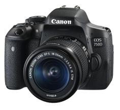 Зеркальный фотоаппарат Canon EOS 750D Kit 18-55 IS STM (черный)