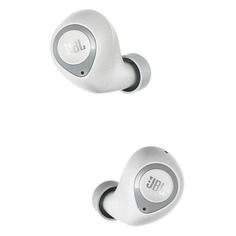 Наушники с микрофоном JBL T100 TWS, Bluetooth, вкладыши, белый [jblt100twswht]