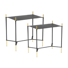 Набор кофейных столиков Bizzotto anisha 2 предмета 54х34х54/59х39х61