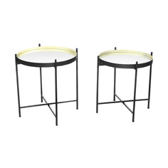 Набор столиков кофейных Bizzotto 2 предмета 53х53х56/59х59х61 см