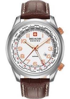 Швейцарские наручные мужские часы Swiss military hanowa 06-4293.04.001. Коллекция Worldtimer