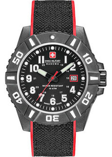 Швейцарские наручные мужские часы Swiss military hanowa 06-4309.17.007.04. Коллекция Black Carbon