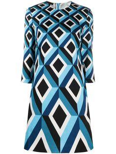 Escada платье-рубашка с геометричным принтом