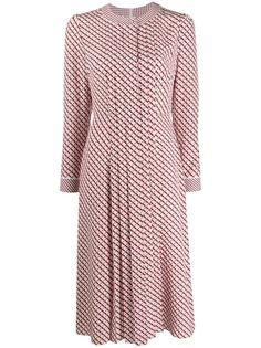 Escada платье-рубашка с принтом