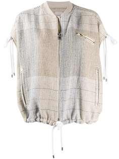 MRZ клетчатая куртка-бомбер без рукавов