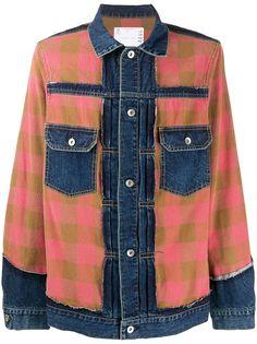 Sacai джинсовая куртка со вставками