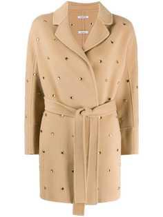 P.A.R.O.S.H. пальто с запахом и кристаллами