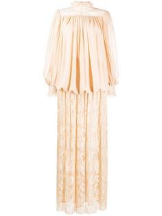 Valentino Pre-Owned комплект из блузки и кружевной юбки