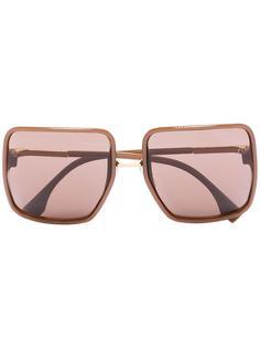 Fendi Eyewear солнцезащитные очки в квадратной оправе