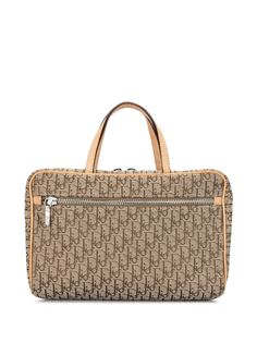 Christian Dior сумка-тоут с узором Trotter