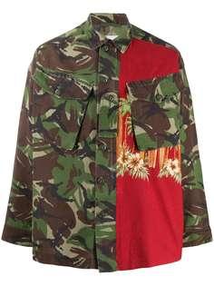 Myar куртка-рубашка с камуфляжным принтом и вставками